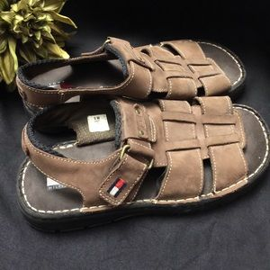Tommy Hilfiger-Brown Sandals-Size: 5M